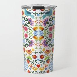 flower folk art Travel Mug