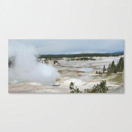 Geyser in Yellowstone Canvas Print