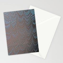 Raining Snow Water Marbling Stationery Cards