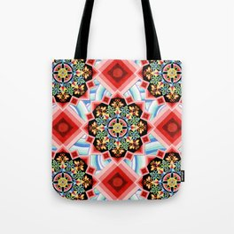 Chinoiserie Waves Tote Bag