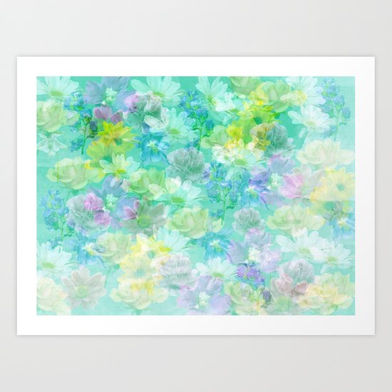 Enchanted Spring Floral Abstract Art Print