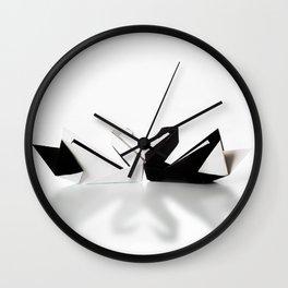 Origami Swan Wall Clock