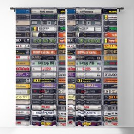 Old 80's and 90's Hip Hop Tapes v2 Blackout Curtain