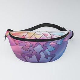 Zelda Triforce colorful Diamond Fanny Pack