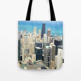 Chicago Buildings Color Photo Tote Bag