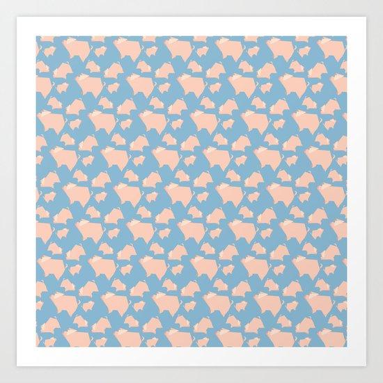 Paper Pigs (Patterns Please Series #3) Art Print