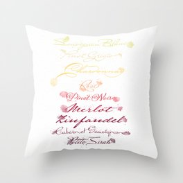 Varietals of Life Throw Pillow