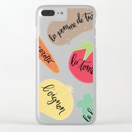 Les Legumes Clear iPhone Case