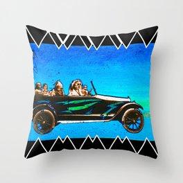 Bonnie, Clyde, & Family Throw Pillow