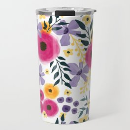 Spring Floral Bouquet Travel Mug
