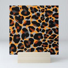 Leopard Mod Print - Gold/Grey Mini Art Print