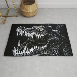 crocodile reptile predator mouth Rug