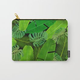 Mix Tropical Leafs mashup pattern Carry-All Pouch