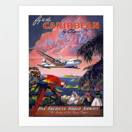 Vintage poster- Caribbean Art Print