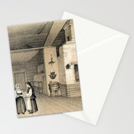 Peasant's House with an Oven Stationery Cards