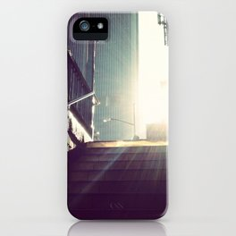 nyc subway sun iPhone Case