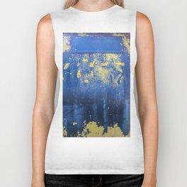 Blue and Yellow Rust Abstact Biker Tank
