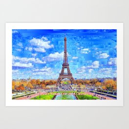France - Russia World Cup Champions 2018 Art Print