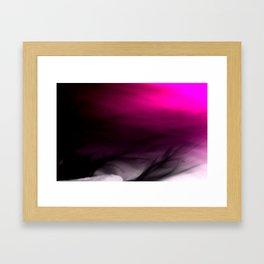 Pink Flames Pink to Black Gradient Framed Art Print