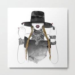 Creole Queen Bey Metal Print