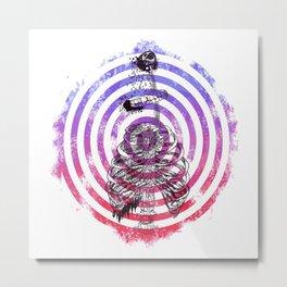 Skeleton Bullseye Metal Print
