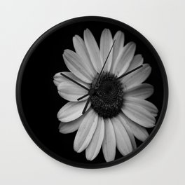 Darkened Daisy Wall Clock