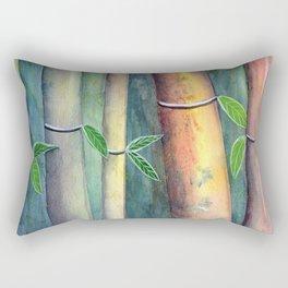 Magical Bamboo Forest Watercolor mixed media Rectangular Pillow