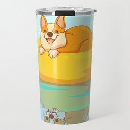 Summer Corgi Travel Mug
