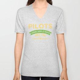 Pilot Proud Aviation Lover Gift Idea Unisex V-Neck