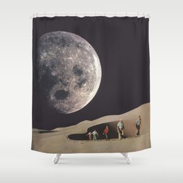 Space Dunes Shower Curtain