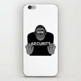 Monkey Security guard stopping the crowd iPhone Skin