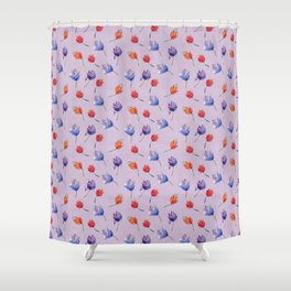 Hand painted flowers Shower Curtain