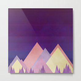 Twilight in The Mountains Metal Print