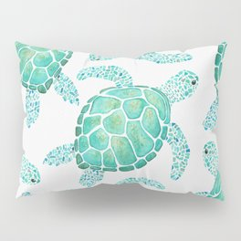 Sea Turtle Pattern - Blue Pillow Sham