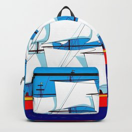 Clipper Ship in Sunny Sky - Happy Birthday on some items Backpack