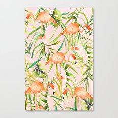 Sorbet Flamingo palms Canvas Print
