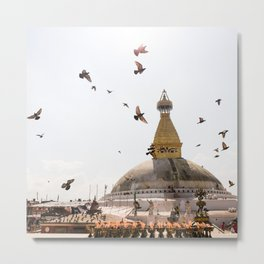 Stupa of Bodnath Metal Print