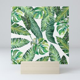Jungle Leaves, Banana, Monstera #society6 Mini Art Print