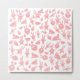 Pink bunnies Metal Print