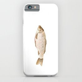 Watercolor Illustration of The process of marinating a fish iPhone Case
