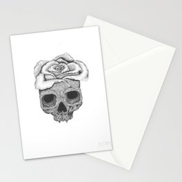 Death Rose Stationery Cards