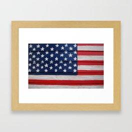 Wooden Flag Framed Art Print