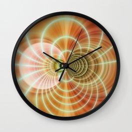 Fractal orange Wall Clock