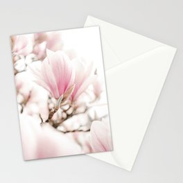 Blooming Magnolia Art Print | Plantlife Nature Photography | Blossoming Magnolia Tree Stationery Cards
