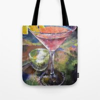 martini Tote Bags featuring Martini by Michael Creese