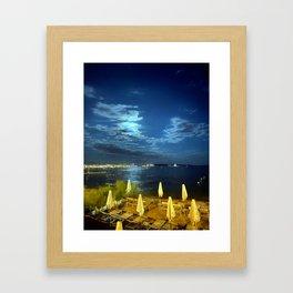 Silent Night in Monaco Framed Art Print