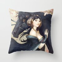 mad Throw Pillows featuring Pepper Empress by Artgerm™