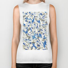 Thousand birds fly Biker Tank