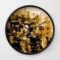 chicago Wall Clocks featuring Chicago by DM Davis