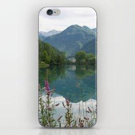 Mountain reflection  on lake iPhone Skin